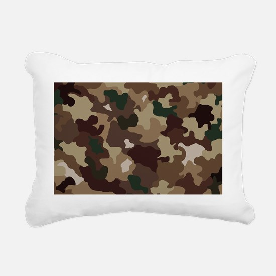 camouflage Rectangular Canvas Pillow