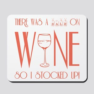 SALE ON WINE Mousepad