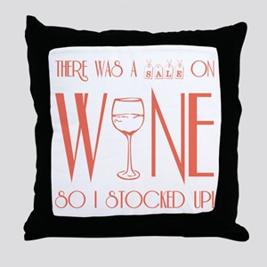 SALE ON WINE Throw Pillow