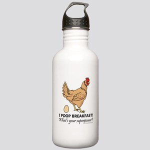 Chicken Poops Breakfas Stainless Water Bottle 1.0L