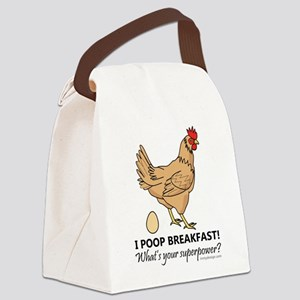 Chicken Poops Breakfast Funny Des Canvas Lunch Bag