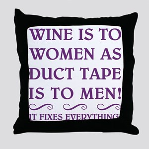 WINE IS TO... Throw Pillow