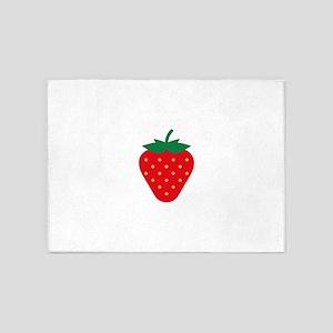 Strawberry / Fraise / Fresa / Erdbe 5'x7'Area Rug