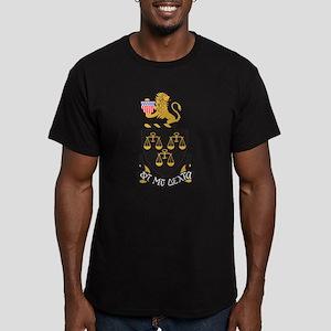 Phi Mu Delta Crest Men's Fitted T-Shirt (dark)