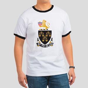 Phi Mu Delta Crest Ringer T
