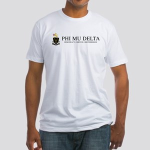 Phi Mu Delta Crest Fitted T-Shirt