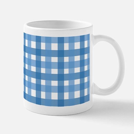 Blue Picnic Cloth Pattern Mug