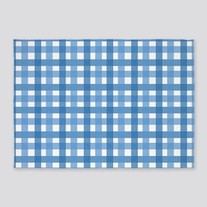 Blue Picnic Cloth Pattern 5'x7'Area Rug
