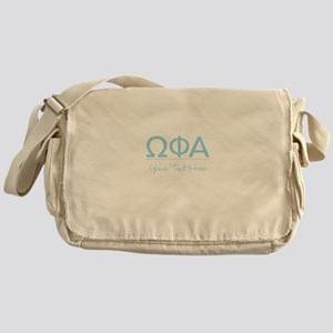 Omega Phi Alpha Personalized Messenger Bag