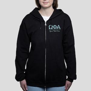 Omega Phi Alpha Personalized Women's Zip Hoodie