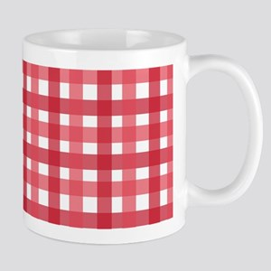 Red Picnic Cloth Pattern Mug