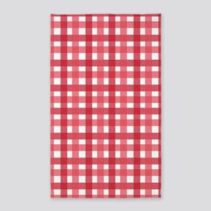 Red Picnic Cloth Pattern Area Rug