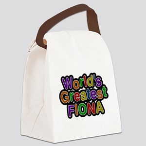 Worlds Greatest Fiona Canvas Lunch Bag