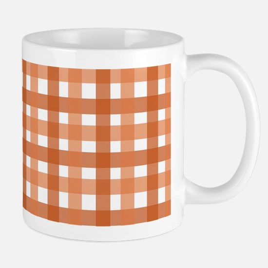 Orange Picnic Cloth Pattern Mug