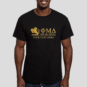 Phi Mu Delta Letters P Men's Fitted T-Shirt (dark)