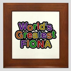 World's Greatest Fiona Framed Tile