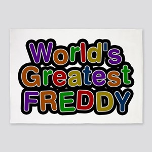 World's Greatest Freddy 5'x7' Area Rug