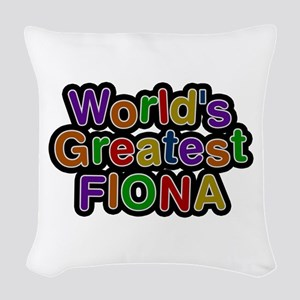 World's Greatest Fiona Woven Throw Pillow