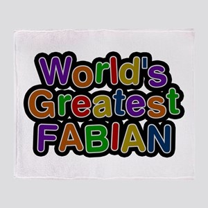World's Greatest Fabian Throw Blanket