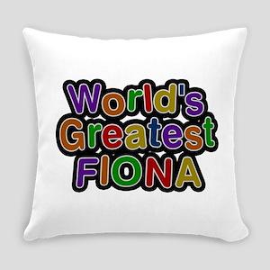 World's Greatest Fiona Everyday Pillow