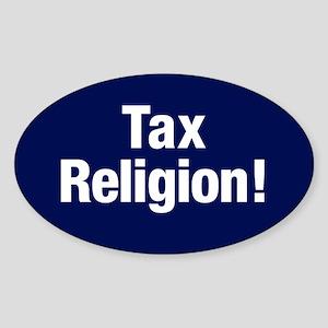 Tax Religion Sticker (oval)