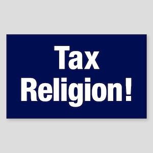 Tax Religion Sticker (rectangle)
