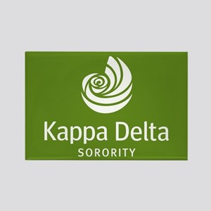 Kappa Delta Shell Rectangle Magnet