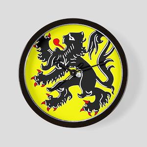 Lion of Flanders Wall Clock