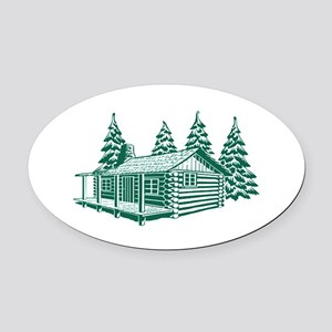 CABIN Oval Car Magnet