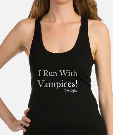 i run with vampires white Tank Top