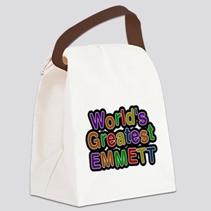 Worlds Greatest Emmett Canvas Lunch Bag