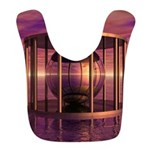 Metal Cage Floating In Water Polyester Baby Bib