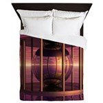 Metal Cage Floating In Water Queen Duvet