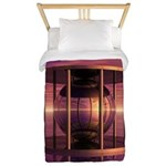 Metal Cage Floating In Water Twin Duvet