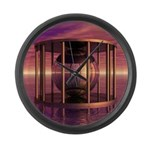 Metal Cage Floating In Water Large Wall Clock