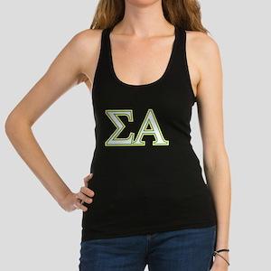 Sigma Alpha Letters Racerback Tank Top