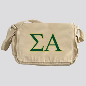 Sigma Alpha Letters Messenger Bag