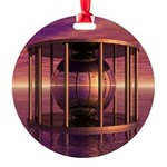 Metal Cage Floating In Water Ornament