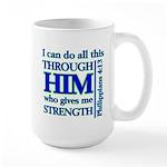 Philippians 4:13 Mugs