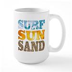 Surf/Sun/Sand Large Mug