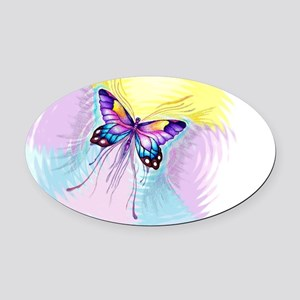 Butterfly radial colors Oval Car Magnet