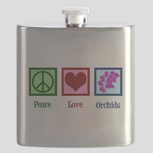 Peace Love Orchids Flask