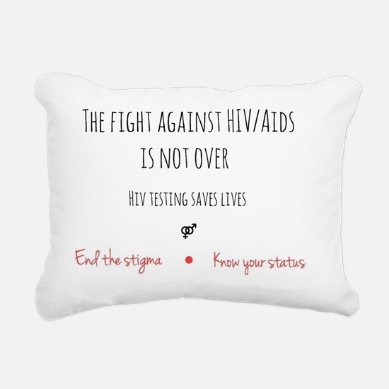 Unique Aids Rectangular Canvas Pillow