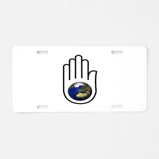 EARTH Aluminum License Plate
