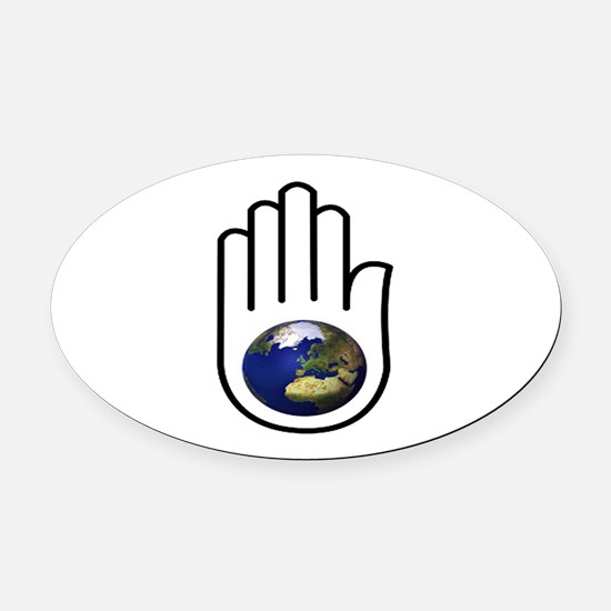 EARTH Oval Car Magnet
