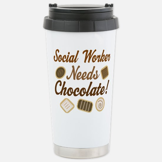 social worker Stainless Steel Travel Mug