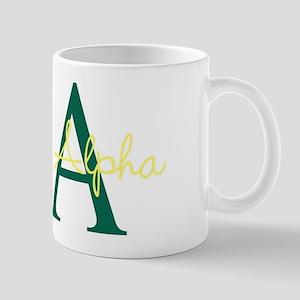 Sigma Alpha Green Mug