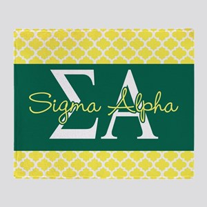 Sigma Alpha Pattern Throw Blanket