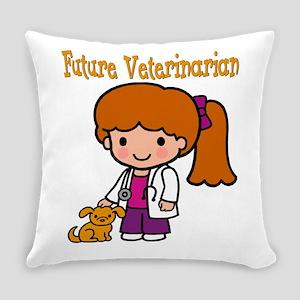 cute future vet Everyday Pillow