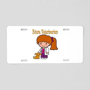 cute future vet Aluminum License Plate